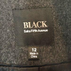 Saks Fifth Avenue Black Label Jackets & Coats - SAKS FIFTH AVENUE BLACK LABEL LORO PIANA WOOL COAT